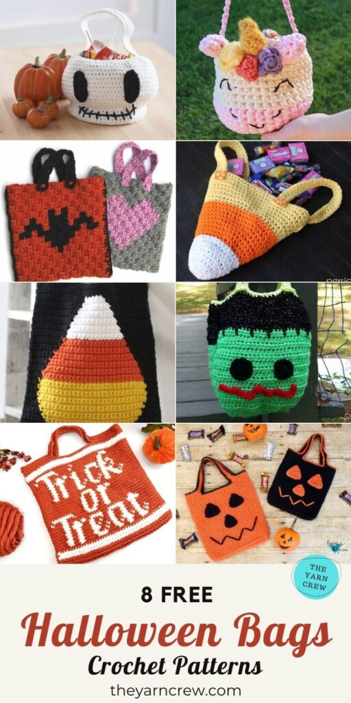 8 Free Fantastic Crochet Halloween Trick Or Treat Bags PIN 3