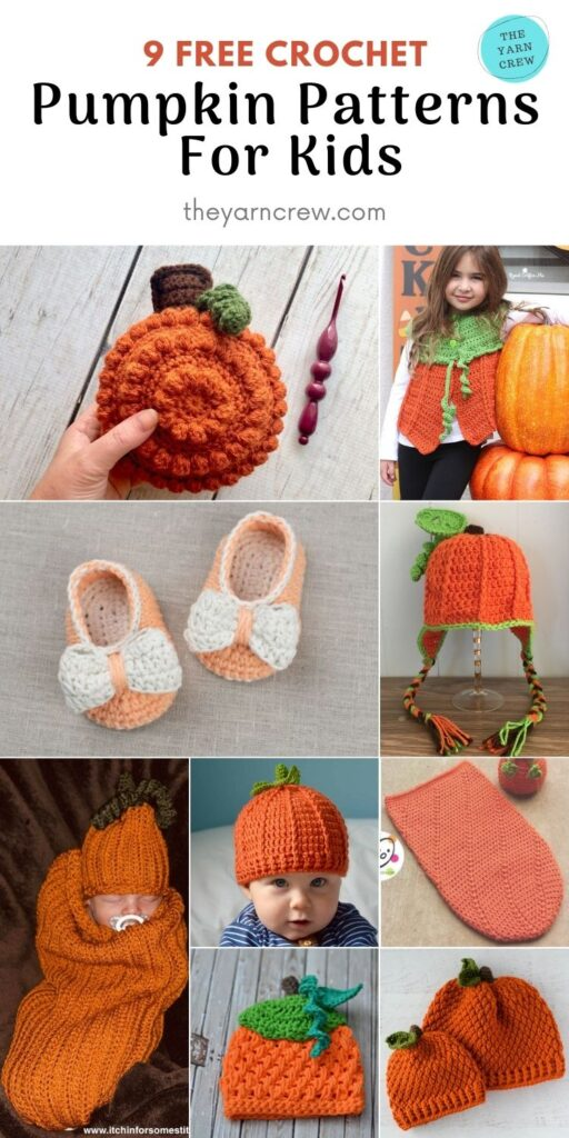 9 FREE Spooky Crochet Pumpkin Patterns For Your Little One - PIN 2
