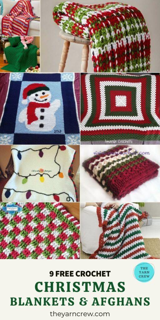 _ 9 Free Amazing Crochet Christmas Blankets & Afghans -PIN2