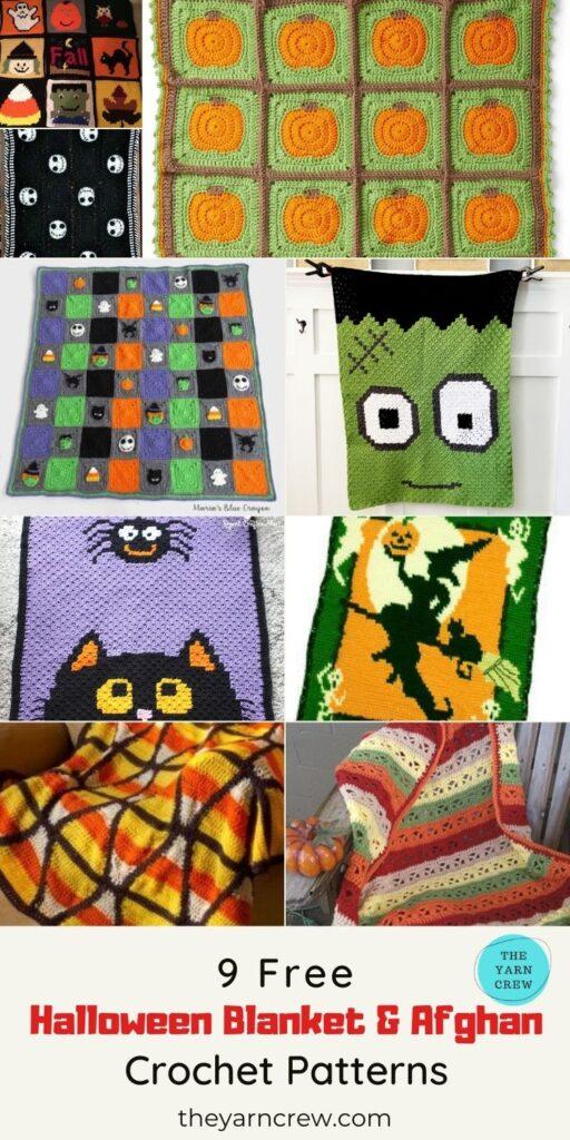 _9 Free Amazing Crochet Halloween Blanket & Afghan Patterns - PIN1