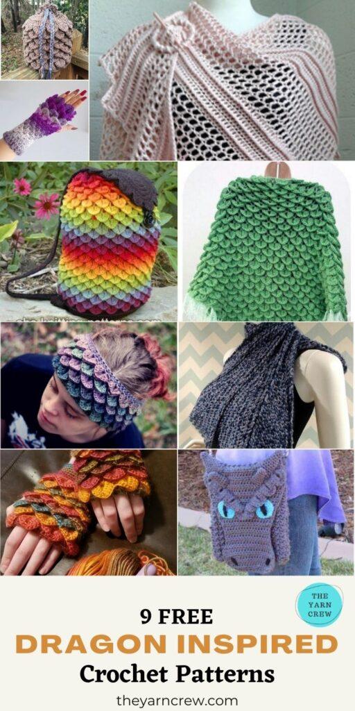 9 Free Amazing Dragon Inspired Crochet Patterns You Can Wear - PIN1ree Amazing Dragon Inspired Crochet Patterns You Can Wear - PIN1