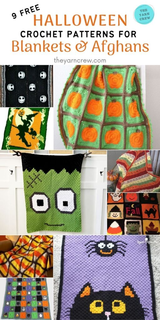 _9 Free Crochet Halloween Blanket & Afghan Patterns - PIN3