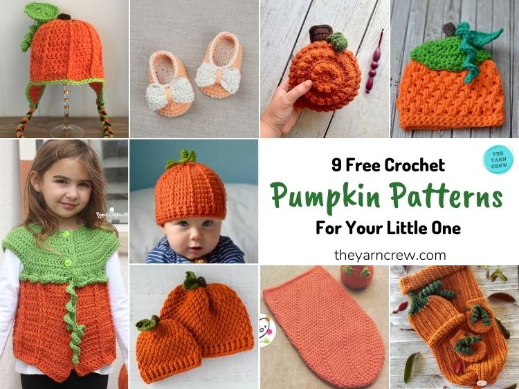 9 Free Crochet Pumpkin Patterns For Your Little One - FB POSTER