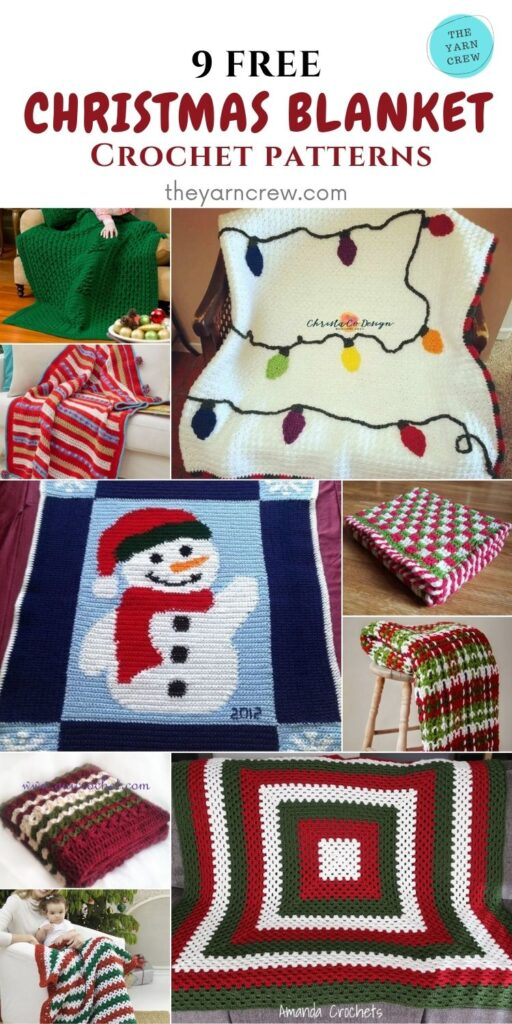 _ 9 Free Fantastic Crochet Patterns for Christmas Blankets & Afghans -PIN3