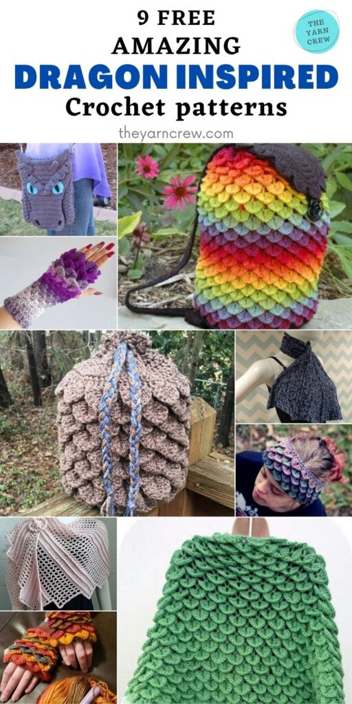9 Free Fantastic Dragon Inspired Crochet Patterns You Can Wear - PIN2