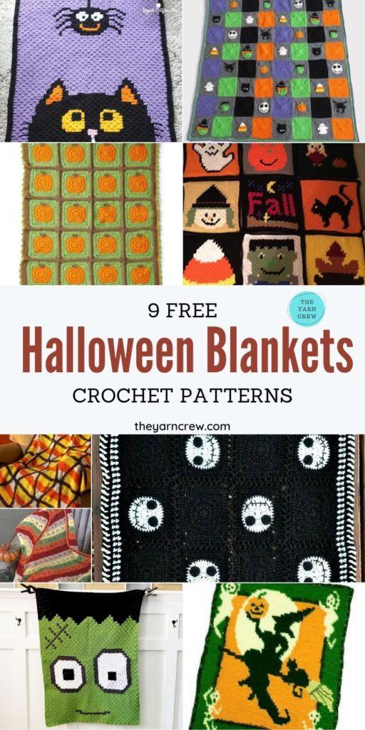 _9 Free Spooky Crochet Halloween Blanket & Afghan Patterns - PIN2
