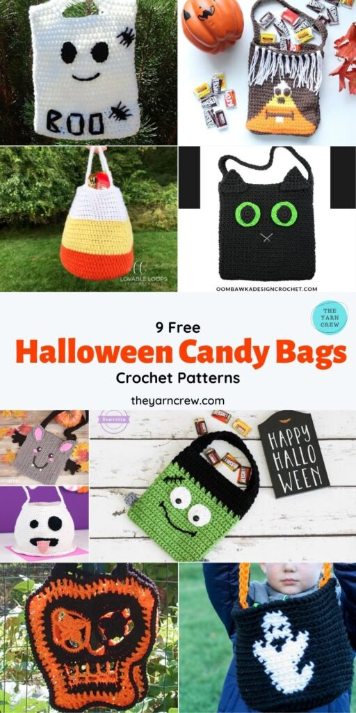 9 Free Spooky Trick Or Treat Bags Crochet Patterns - Pin 2