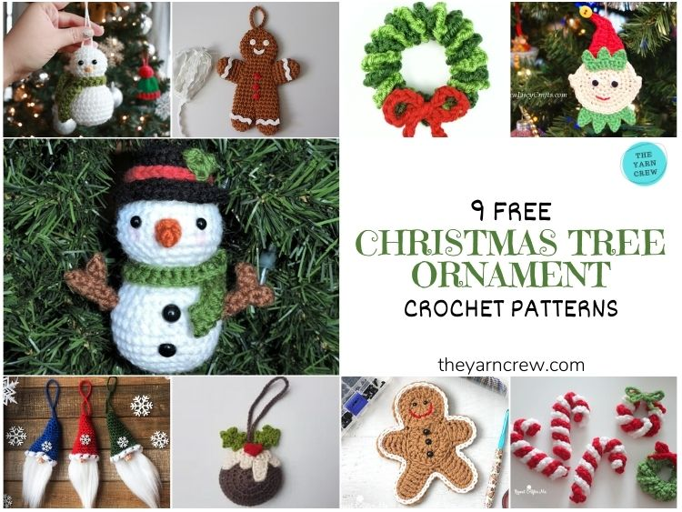 9 Free Traditional Christmas Decorations Tree Ornaments - FACEBOOK POSTER