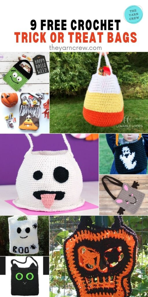 9 Free Trick Or Treat Bags Crochet Patterns - Pin 1