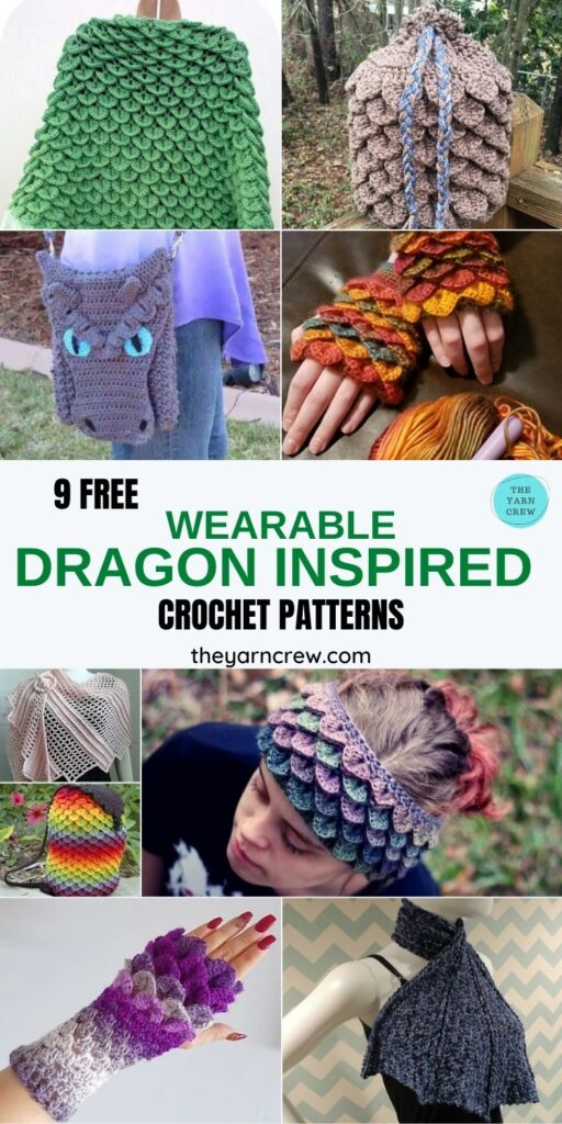 9 Free Unique Dragon Inspired Crochet Patterns You Can Wear - PIN3