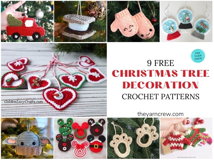 9 Free Whimsical Christmas Decorations Tree Ornaments - FACEBOOK POSTER
