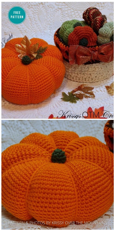 Autumn Pumpkin Free Crochet Pattern - 18 Free Farmhouse Crochet Pumpkin Patterns