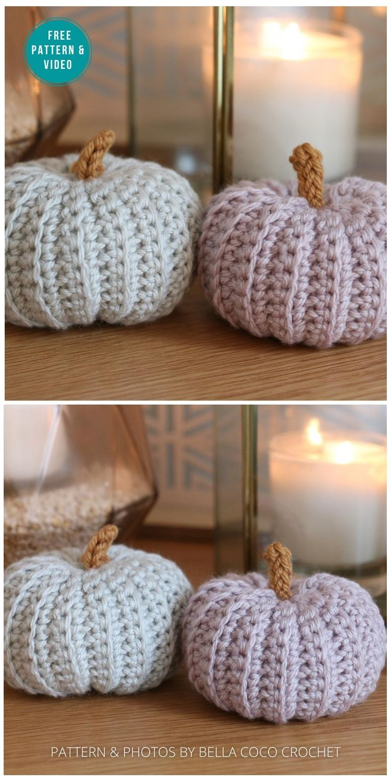 Autumn Pumpkin Pattern - 18 Free Farmhouse Crochet Pumpkin Patterns PIN