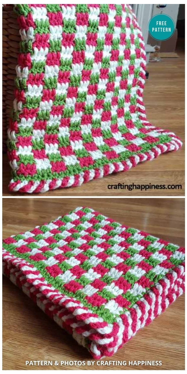 Baby's First Christmas Blanket - 9 Free Crochet Christmas Blankets & Afghans