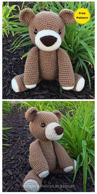 Benedict The Bear Amigurumi - 12 Free Cute Amigurumi Bear Crocheted Toys