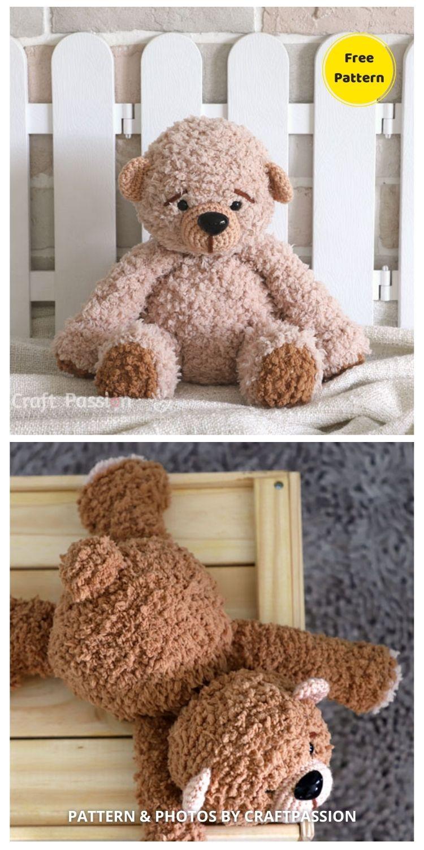 Boco Bear Amigurumi Crochet Pattern - 12 Free Cute Amigurumi Bear Crocheted Toys