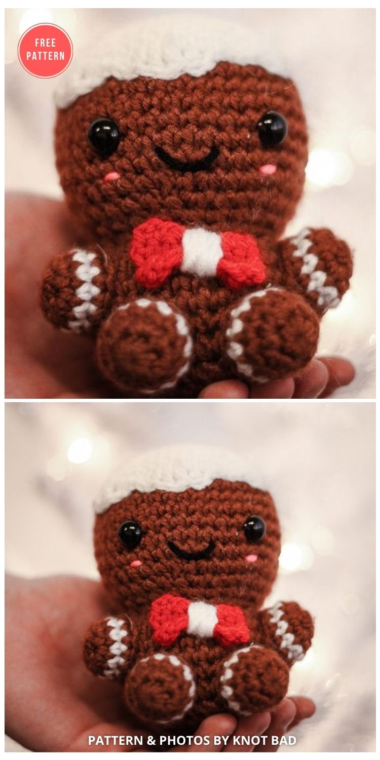Charles The Gingerbread Man - 10 FREE GINGERBREAD CROCHET PATTERNS