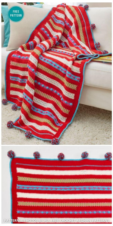 Christmas Morning Easy Crochet Blanket - 9 Free Crochet Christmas Blankets & Afghans