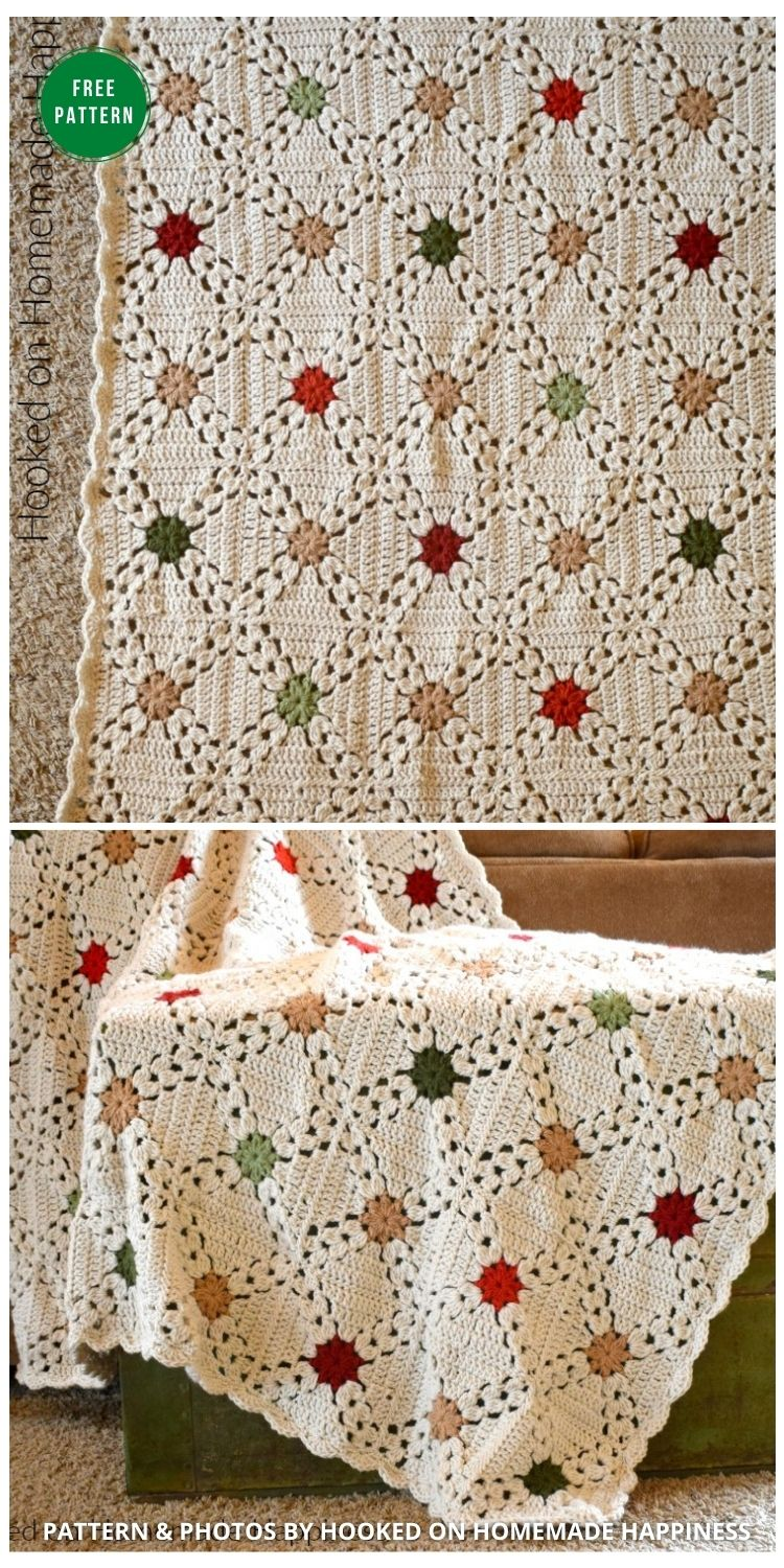 Country Christmas Afghan Crochet Pattern - 8 Free Granny Square Christmas Blankets & Afghans