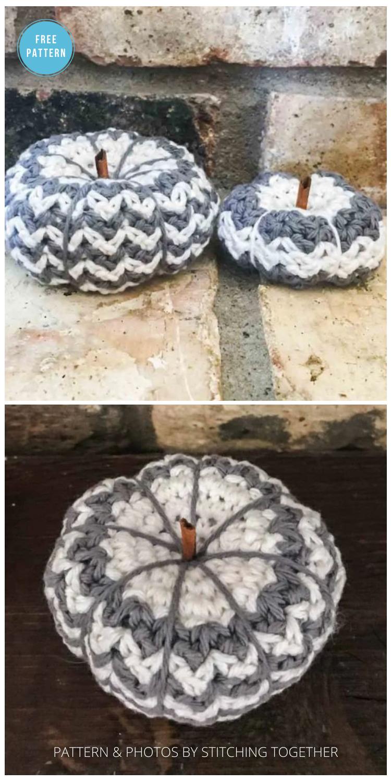 Country Crochet Pumpkins - 18 Free Farmhouse Crochet Pumpkin Patterns