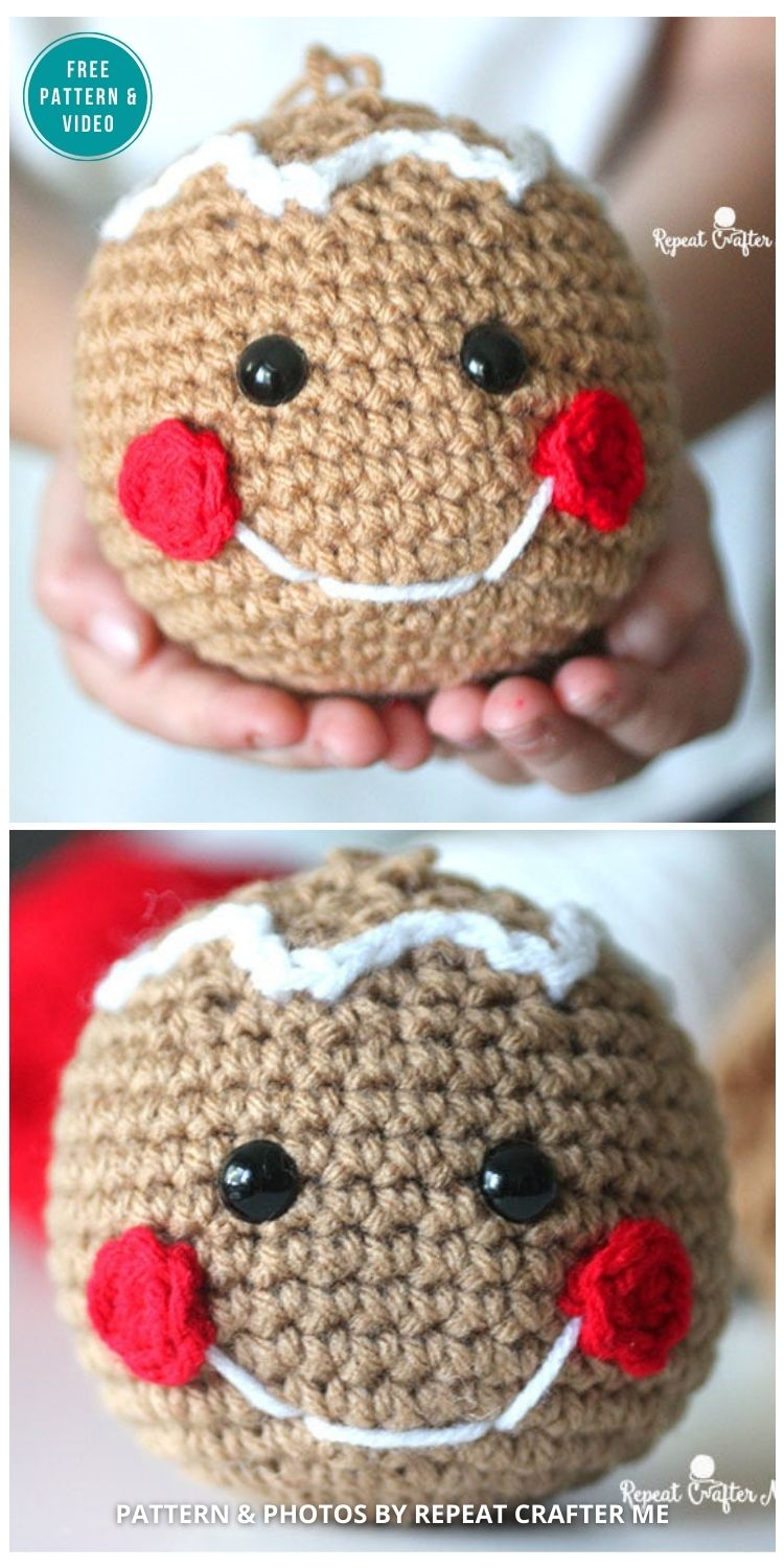 Crochet Gingerbread Head - 10 Free Gingerbread Crochet Patterns For Your Home