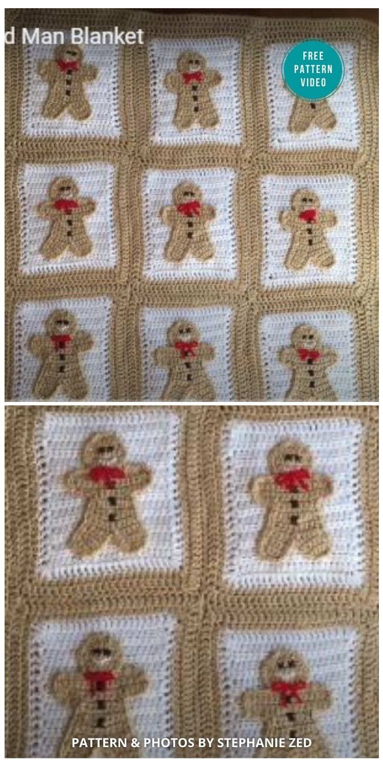 Crochet Gingerbread Man Blanket - 10 Free Gingerbread Crochet Patterns For Your Home