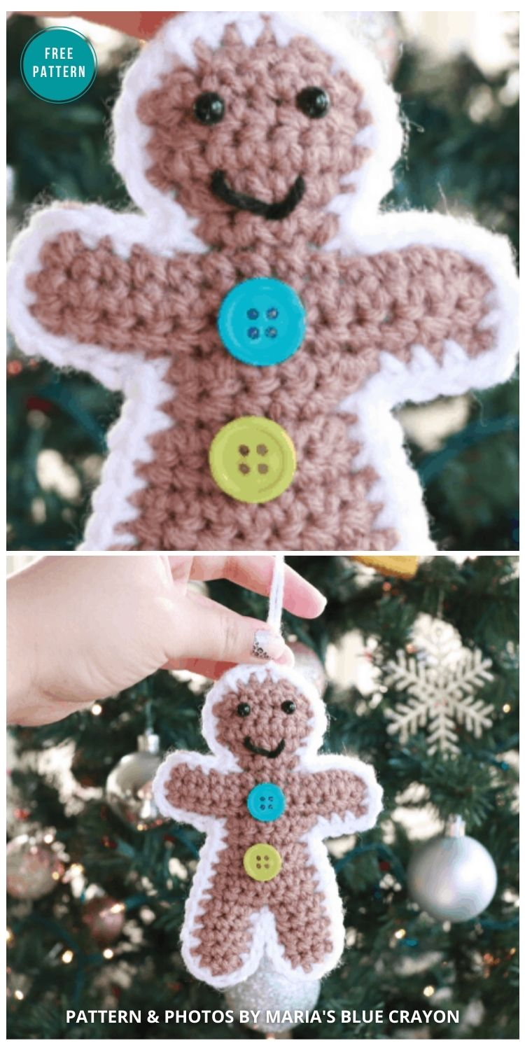 Crochet Gingerbread Ornament - 10 Free Gingerbread Crochet Patterns For Your Home