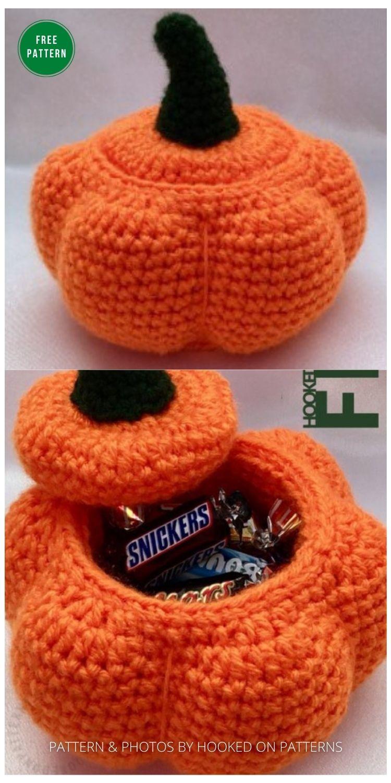 Crochet Pumpkin Pot - 13 Free Crochet Pumpkin Patterns For Your Home