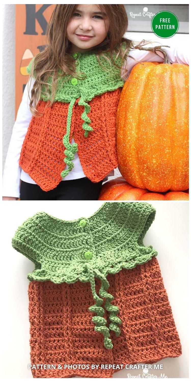 Crochet Pumpkin Sweater Vest - 9 Free Crochet Pumpkin Patterns For Your Little One