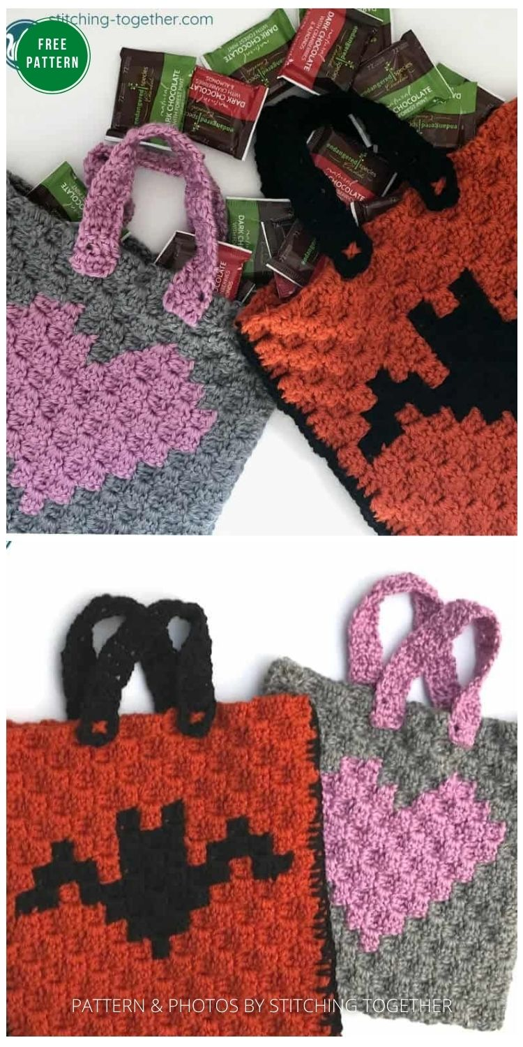 Crochet Trick or Treat Bag Pattern - 8 Free Crochet Halloween Trick Or Treat Bags