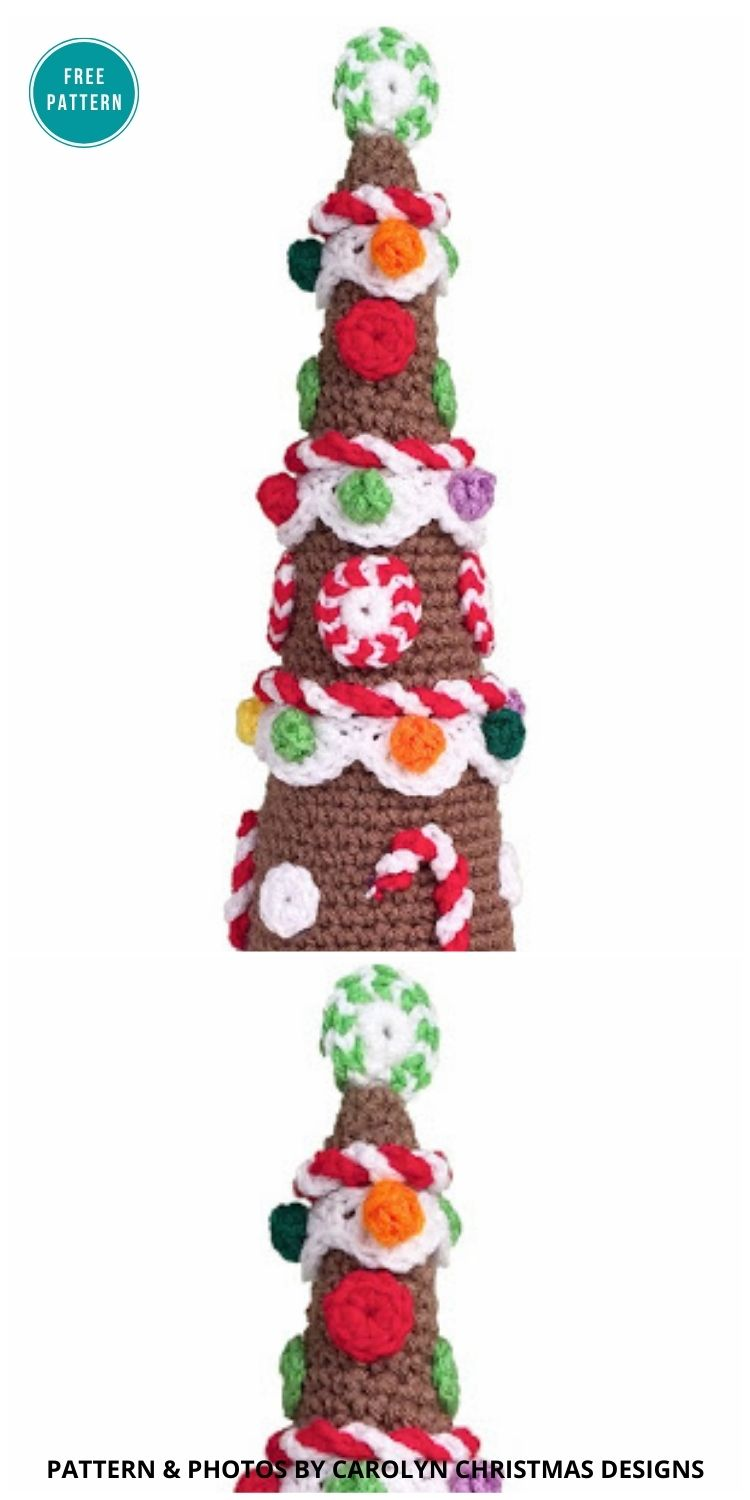 Gingerbread Christmas Tree - 10 Free Gingerbread Crochet Patterns For Your Home