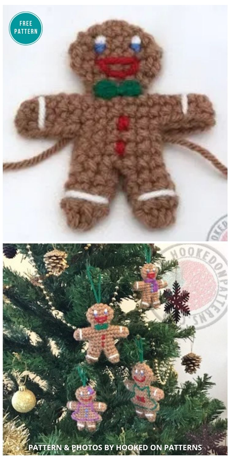 Gingerbread Man - 10 Free Gingerbread Crochet Patterns For Your Home