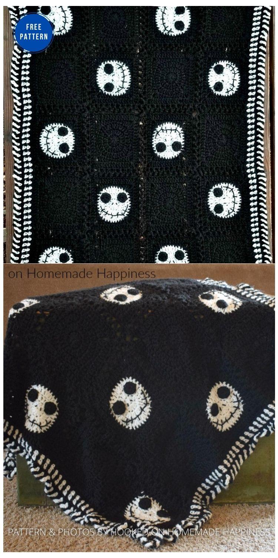 Halloween Crochet Blanket - 9 Free Crochet Halloween Blanket & Afghan Patterns