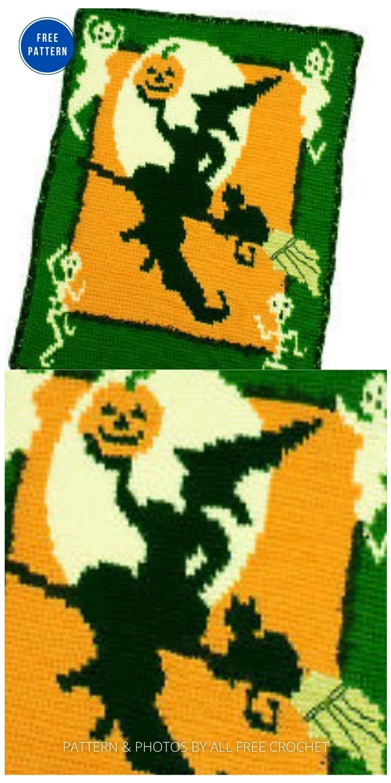 Haunted Halloween Throw - 9 Free Crochet Halloween Blanket & Afghan Patterns