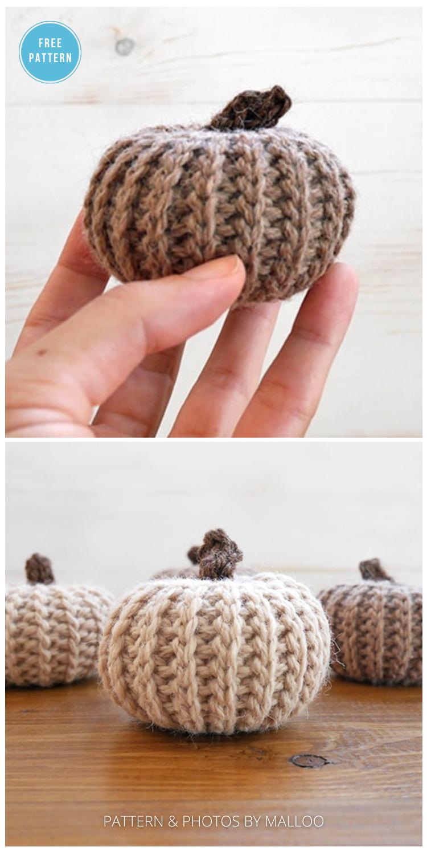 How to Make Adorable Crochet Pumpkins that Look Knit - 18 Free Farmhouse Crochet Pumpkin Patterns