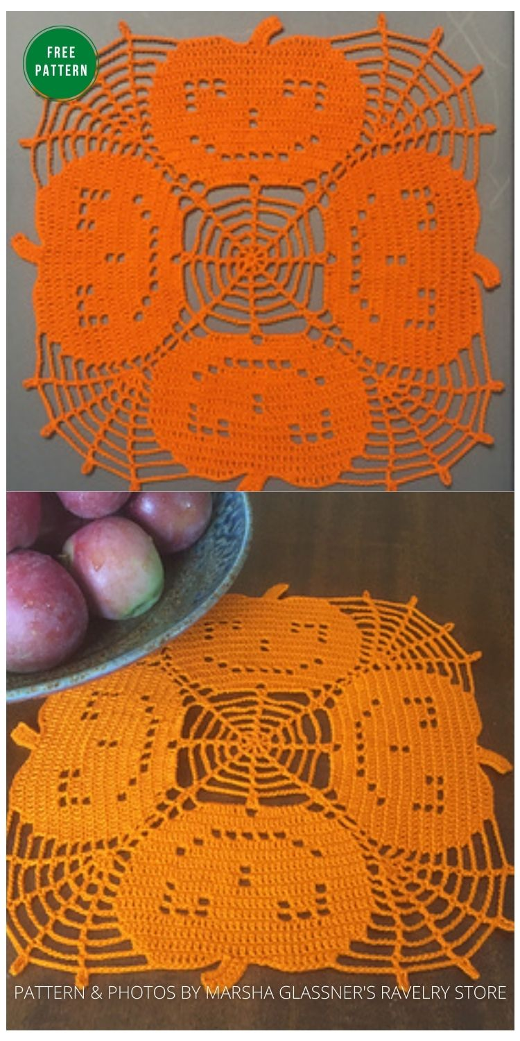 Jack-In-The-Web - 13 Free Crochet Pumpkin Patterns For Your Home