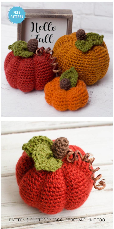 Medium Crochet Pumpkin Pattern - 18 Free Farmhouse Crochet Pumpkin Patterns