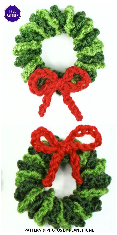 Mini Wreath Ornament - 9 Free Traditional Christmas Decorations Tree Ornaments PIN