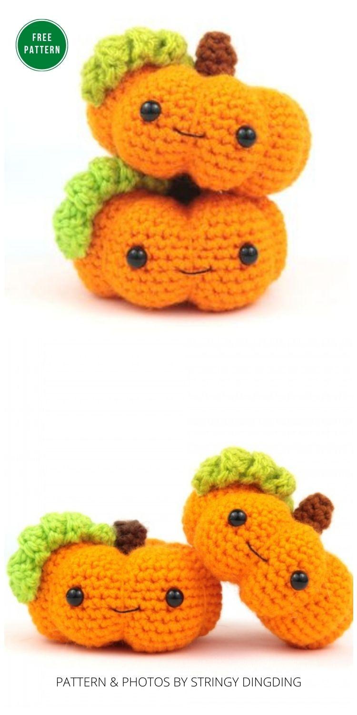 Pumpkin Amigurumi - 13 Free Crochet Pumpkin Patterns For Your Home