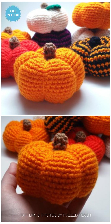 Pumpkin Amigurumi Crochet Pattern - 18 Free Farmhouse Crochet Pumpkin Patterns