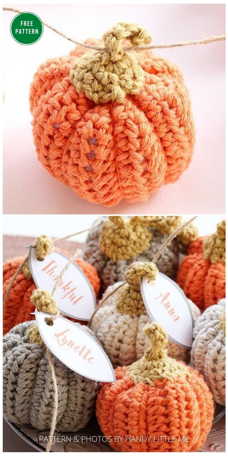 _Pumpkin Crochet Pattern {Easy And Quick} -13 Free Crochet Pumpkin Patterns For Your Home