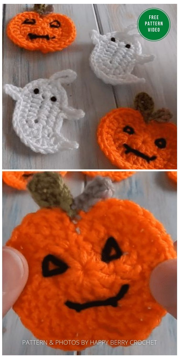 Pumpkin for Bunting - 13 Free Crochet Pumpkin Patterns For Your Home PIN