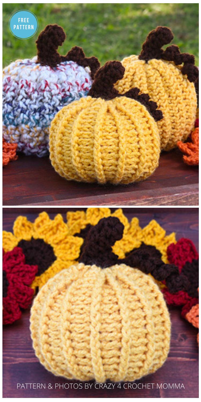 Rustic Pumpkin - 18 Free Farmhouse Crochet Pumpkin Patterns