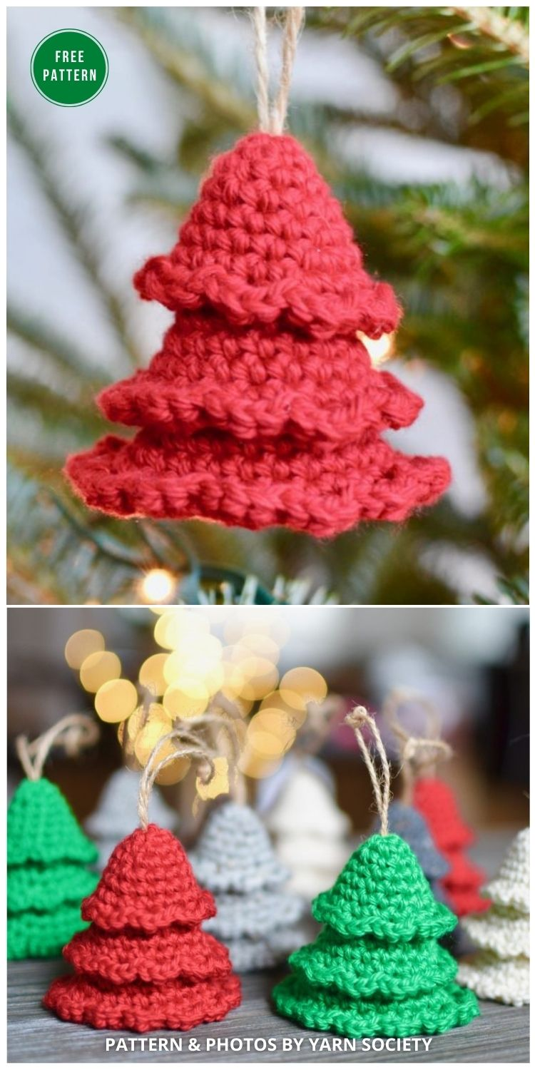 Rustic Tree Ornaments - 7 Free Christmas Tree Ornaments Free Crochet Patterns
