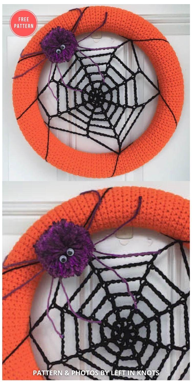 Spider Web Wreath - 10 Free Halloween Wreaths