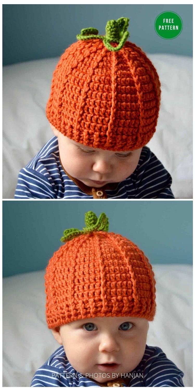 The Pumpkin Beanie - 9 Free Crochet Pumpkin Patterns For Your Little One