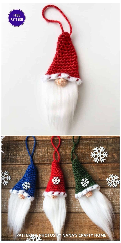 The Santa Christmas Gnome Ornament - 9 Free Traditional Christmas Decorations Tree Ornaments PIN
