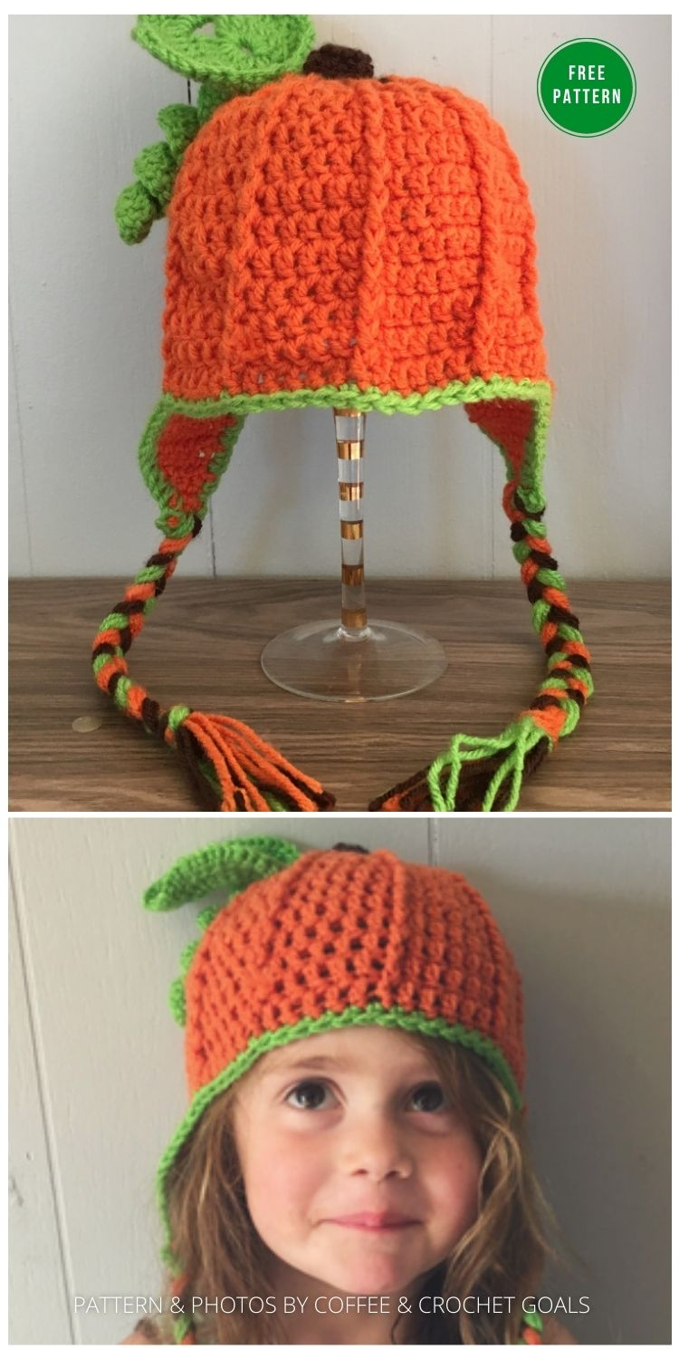 Toddler Pumpkin Hat - 9 Free Crochet Pumpkin Patterns For Your Little One