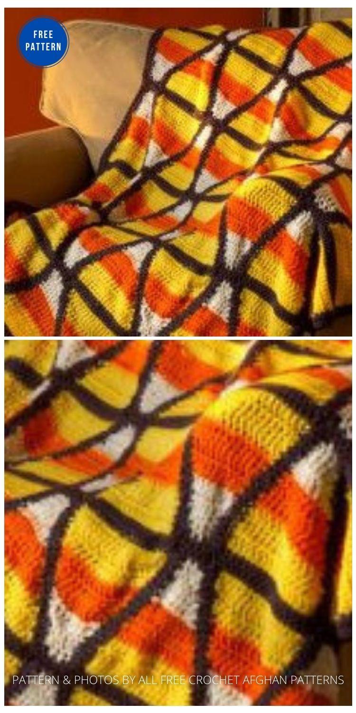 Trick or Treat Afghan - 9 Free Crochet Halloween Blanket & Afghan Patterns