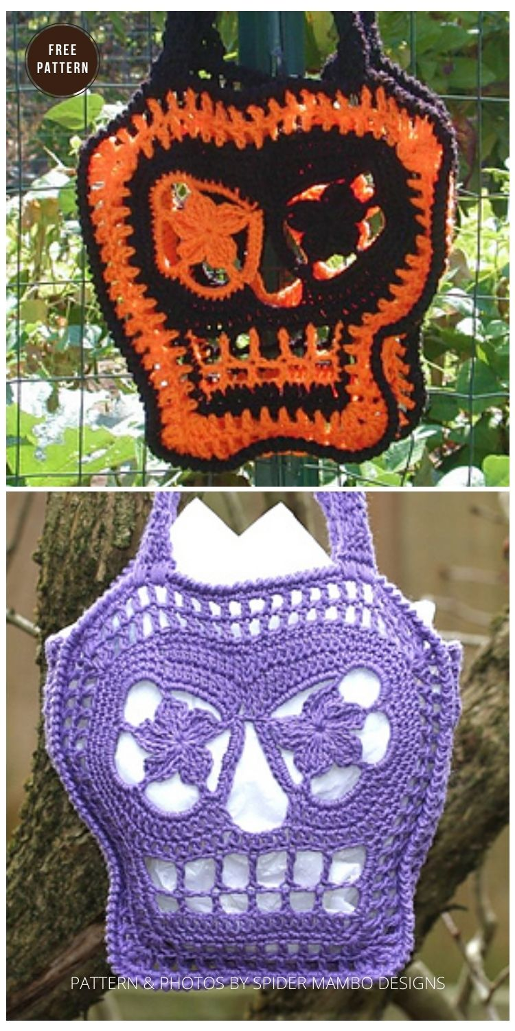 Trick or Treat Bags - 9 Free Trick Or Treat Bags Crochet Patterns